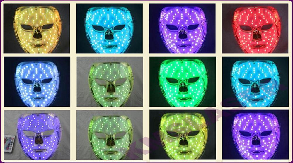7 색상 광양 PDT 주도 피부 관리 페이셜 마스크 블루 그린 레드 라이트 요법 미용 기기 DHL 무료 배송