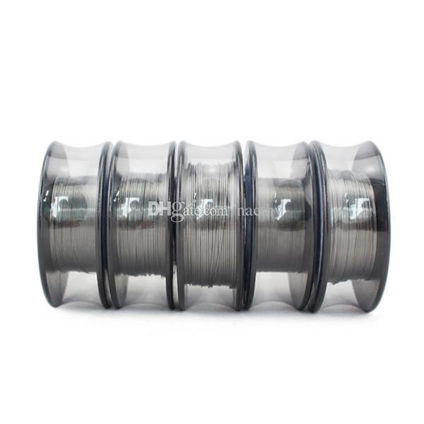 최신 TA1 티타늄 와이어 증기 기술 온도 제어 저항 가열 와이어 30 피트 24G 26G 28G 30G for DIY RDA RBA Atomizer Coils