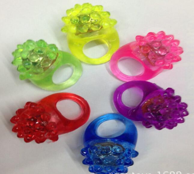 Bague à bulles clignotant Rave Party Blinking Glow Soft Glow Soft Selling! Cool LED Lumière