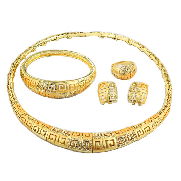 AE Vintage Dubai Gold Jewelry Sets Mysterious Symbol Gorgeous Women