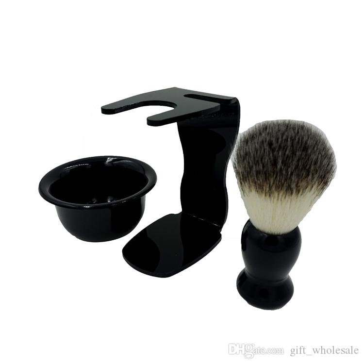 Men Soap Dish Stand Bowl Shaving Razor Beard Brush Shaver Kit Set