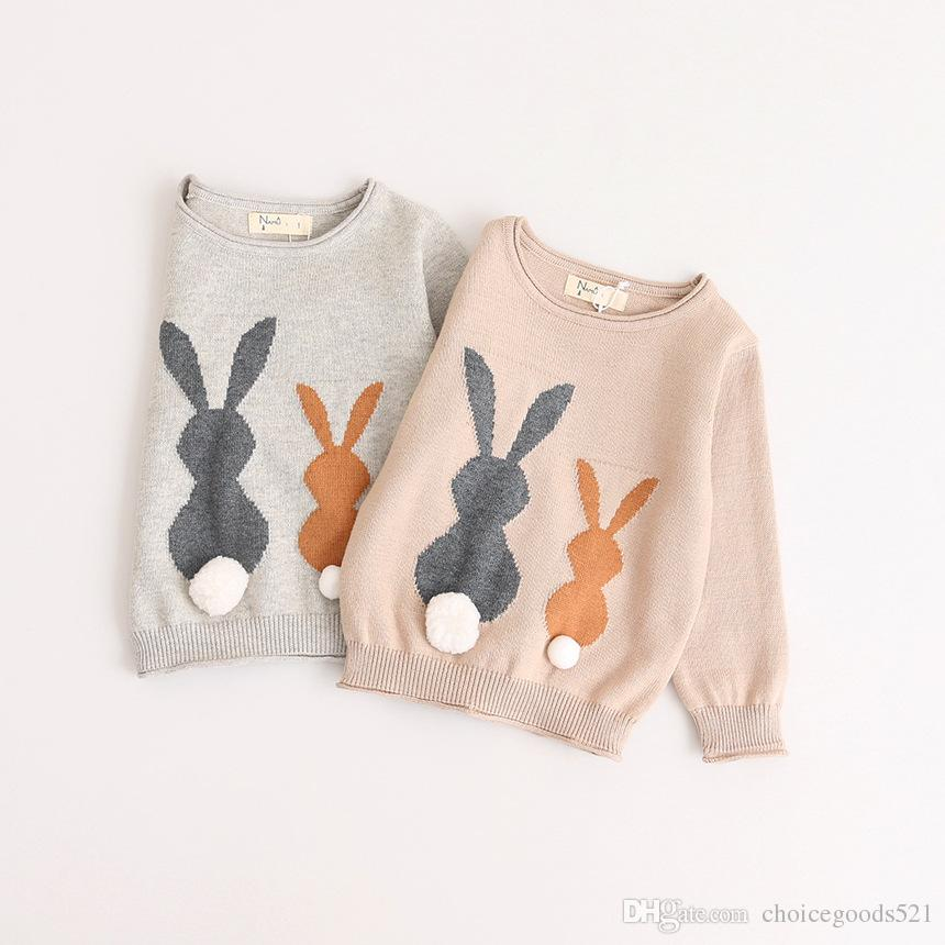 6422a9cb5af345 New Kids Sweater Winter Spring Baby Kids Knitted Sweater Top Girls Rabbit Sweaters  Top Knitted Sweater Patterns Baby Boy Knit Sweater Pattern From ...