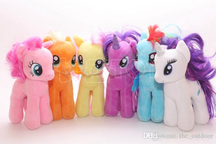 2019 New My Little Pony Plush Toys Dolls 4inch Cartoon Unicorn Horse