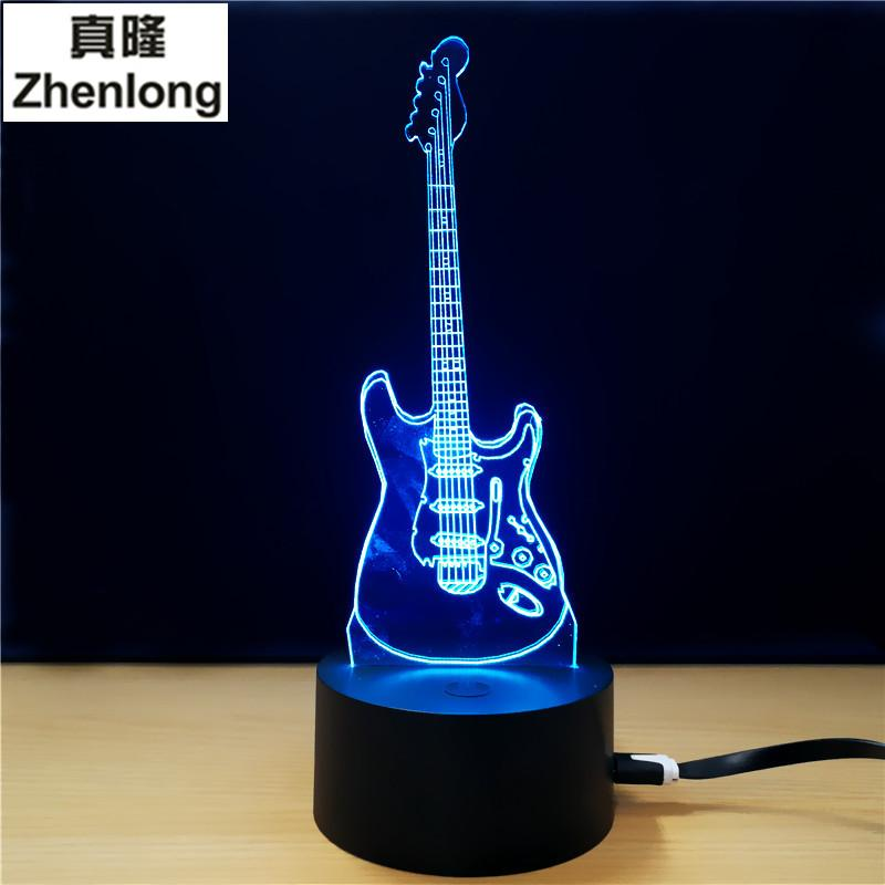 2018 wholesale 3d led visual colorful usb table lamp lampara baby 2018 wholesale 3d led visual colorful usb table lamp lampara baby sleeping night light creative fashion music electric guitar lamp decor gifts from aloadofball Images