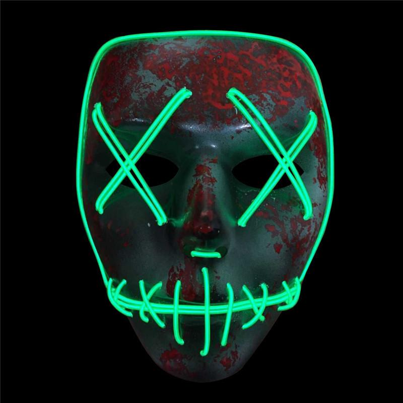 Light Up Neon Skull LED Mask For Halloween Party And Concert Scary Party Theme Cosplay Payday Series Masks
