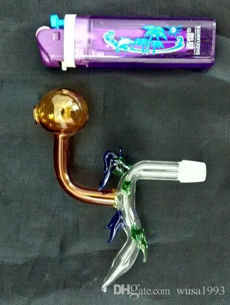 Mayoristas libres del envío ----- 2015 nuevo color olla de cristal rectangular del dragón, hookah / accesorios del bong de cristal, entrega al azar del color
