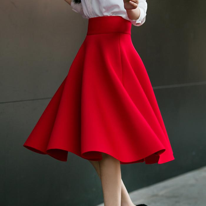 2019 year for women- Waist high plus size skirts