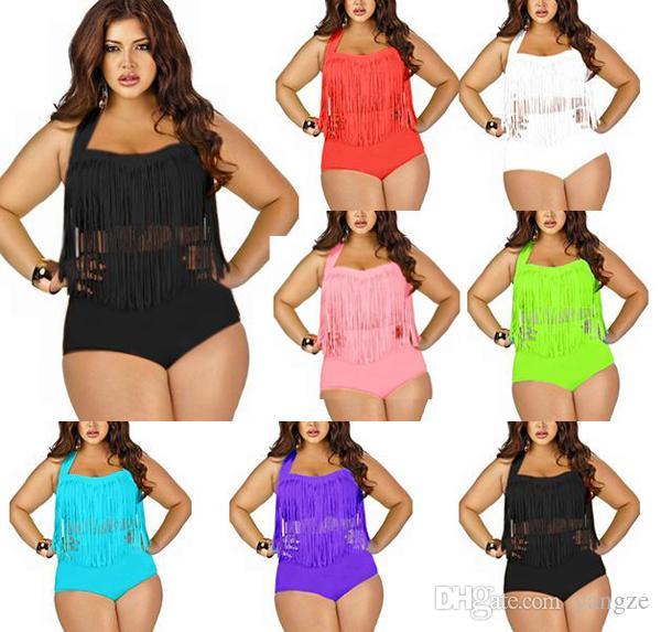 46af1d0009ed Online Cheap Newest Plus Size Swimwear For Women Fringe High Waist Tassels  Bikini Swimsuit Sexy Women Bathing Suit Boho Swimsuit Monokini 2001 By  Yangze ...