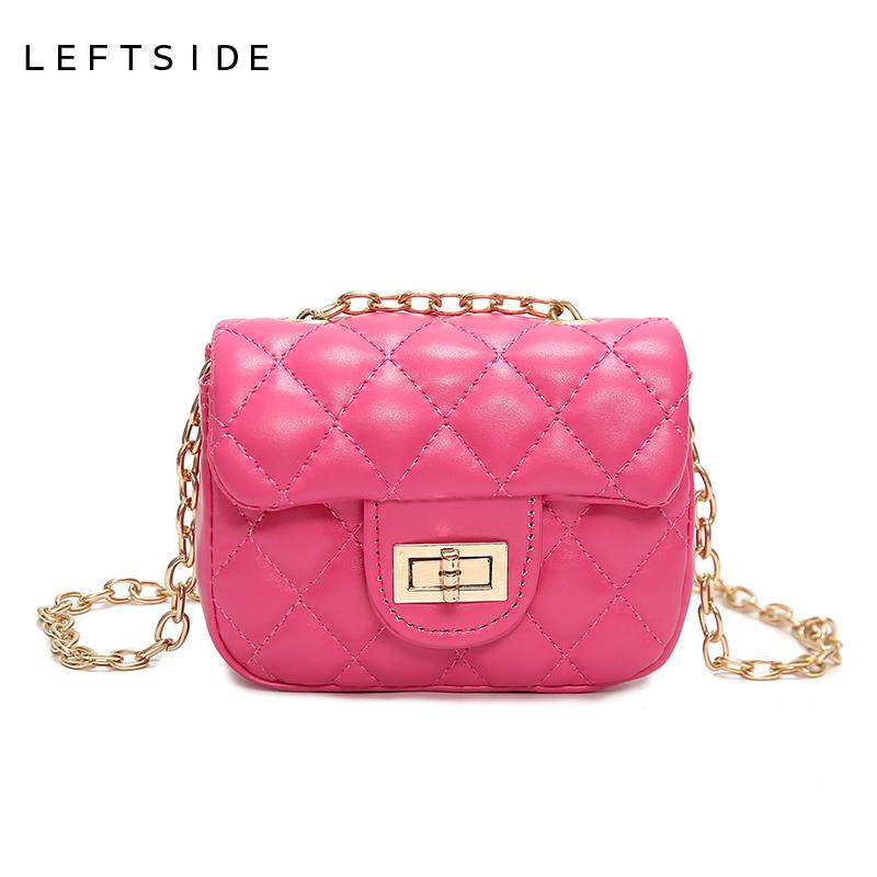 34ab9efa6917 New Girls Baby Mini Quilted Bag Women Small Leather Chain Messenger Shoulder  Bag Children Crossbody Bag Purse 171103 Handbag Brands Silver Clutch From  ...