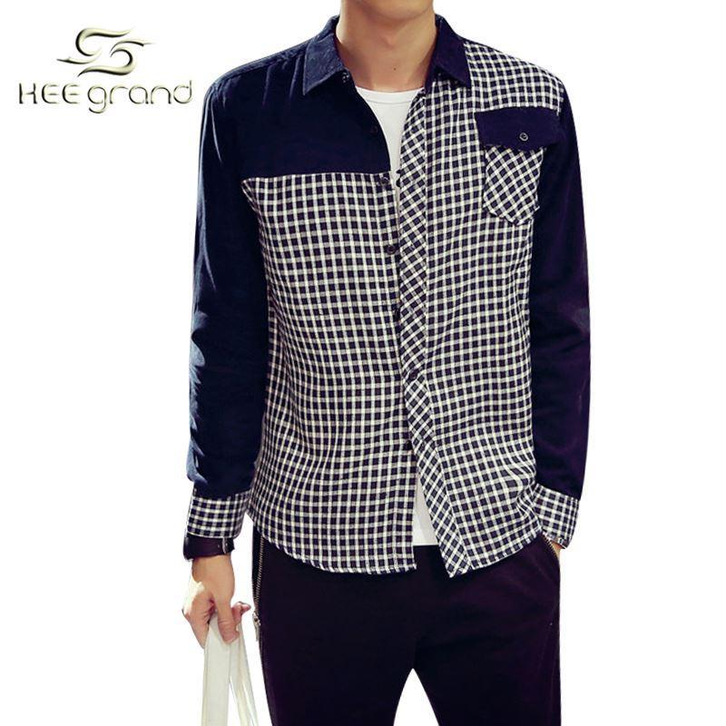 Online Cheap New Design 2015 Men Plaid Shirts Man'S Long Sleeved ...