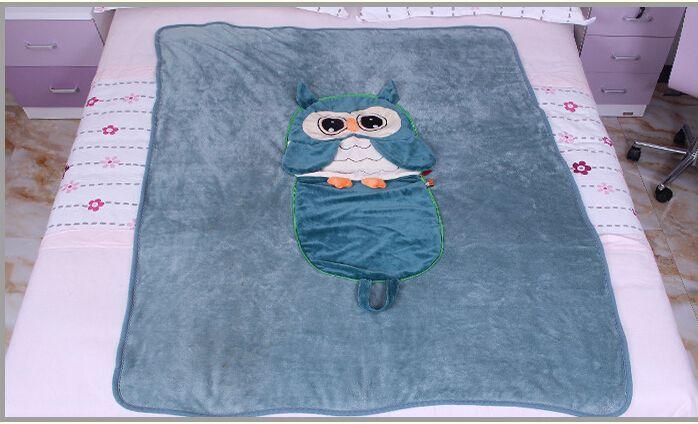 Uil Cartoon Kinderen Deken Baby Deken Kinderen Dekens Air-Condition Deken Leuke Owl Deken Best Selling in Korea Deken