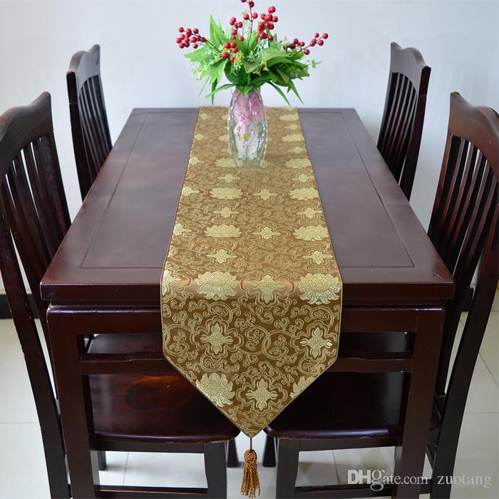 Extra Long 120 inch Luxury Dinner Party Table Runner Vintage Damask Printed High End Decoration Table cloths Multicolor