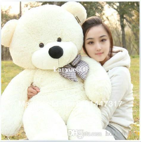 2019 High Quality Low Price Plush Toys Large Size80cm Teddy Bear 80cm Big Embrace Doll Lovers Christmas Gifts Birthday Gift From Homeworld