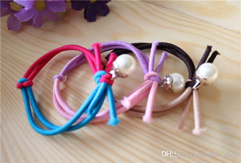 2018 for Female Mix Color for Female New Designer for Tail Holder Colorful Mandarin Duck Buckle Hand-knotted Pearl Hairband Hair Rope Fs21