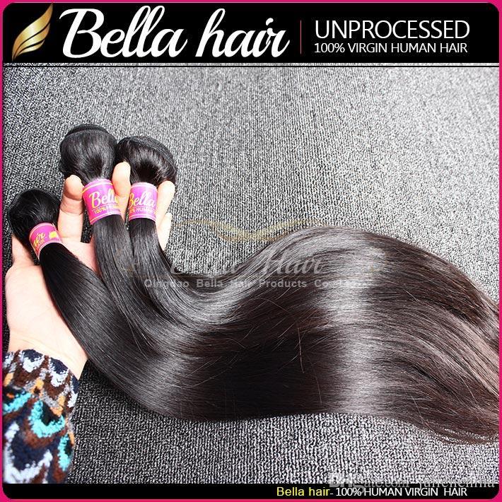 Mest populära mixlängd 10 ~ 24 tums malaysiska hårförlängningar 2st / Double Weft Natural Color 9a Rak hårbuntar Gratis frakt