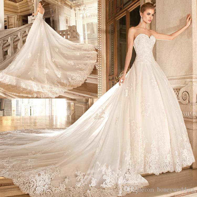 Discount Fashionable Corset Sweetheart Wedding Dresses Lace ...