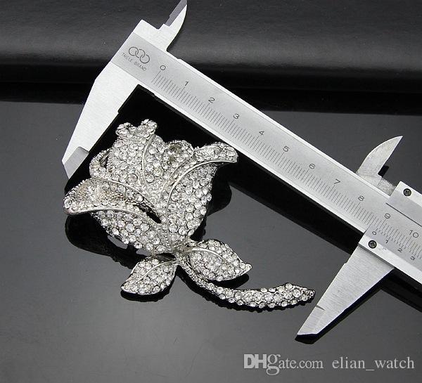 Новые броши булавки Изысканный роскошный Алмаз красивая роза брошь брошь для женщин 3psc / лот Бесплатная доставка