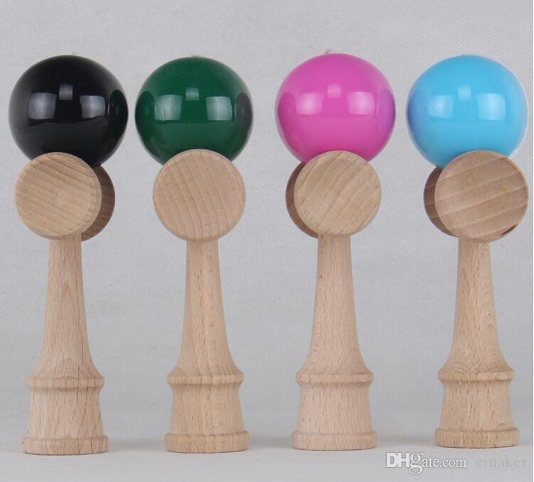 Wholesale-Colorful 17CM Kendama Balls Japanese Traditional Wood Game Toy Educational Gifts Activity Gifts toys for Children DHL free