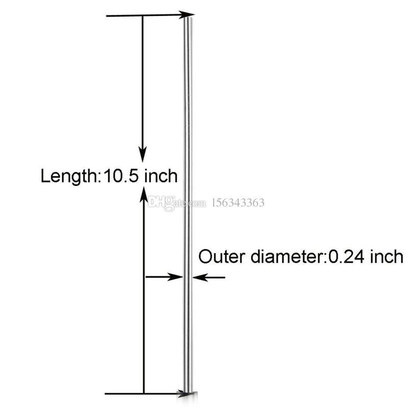 الفولاذ المقاوم للصدأ القش المعمرة قابلة لإعادة الاستخدام 8.5 بوصة معدنية - 10.5 بوصة إضافية طويلة بيند الشرب القش لمدة 20OZ 30OZ