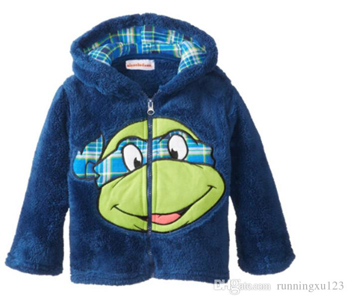 6 конструкций детские коралловые флис вышивка толстовка верхняя одежда детские куртки пальто осень зима теплая животных стиль куртки пальто D363