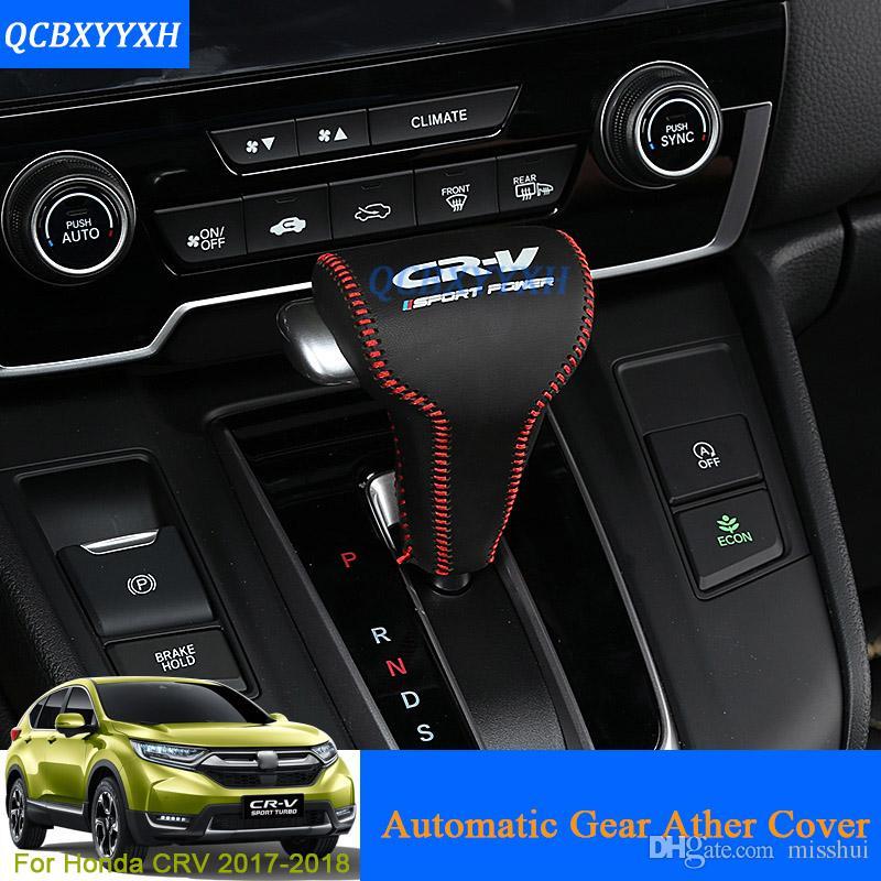 QCBXYYYXH стайлинга автомобилей искусственная кожа переключения передач воротники ручка переключения передач автоматическая Крышка для Honda CRV CR-V 2017 2018