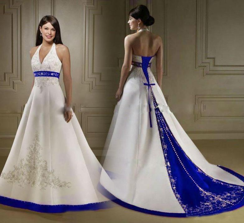 Stunning 60 Halter Wedding Dresses Pattern Embroidery On Satin Delectable Wedding Gown Patterns