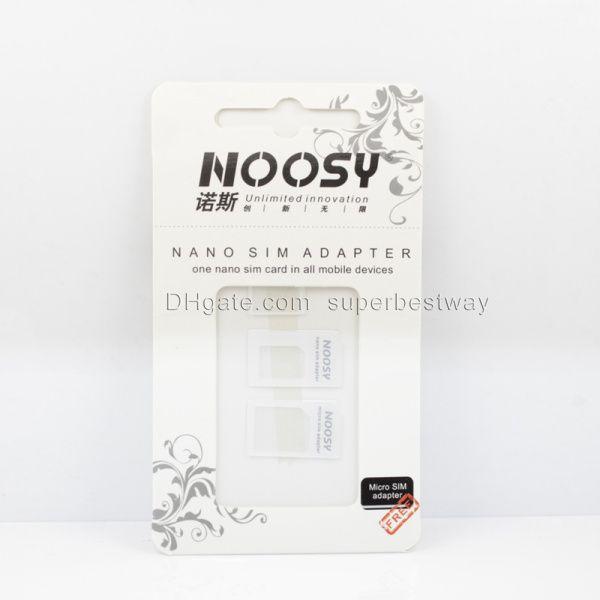 Nano sim noosy nano kart adaptörü sim kart tepsi tutucu yuvası değiştirme çoğu mobil cihazlar için iphone 4 4 s için iphone 5 OTH022