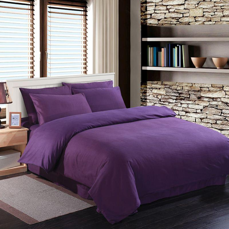 Deep Purple Bedding Set Duvet Quilt Cover King Size Queen Full Double  Bedspread Bed Sheet 100 Cotton Bedsheets Doona Linen Thick Cotton Bedding  Best Duvet ...