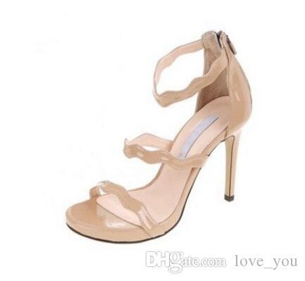 2 Farben Nude Schwarz Schöne Vogue Einfachen Stil 10 cm 7 cm High Heels Hochzeit Brautschuhe