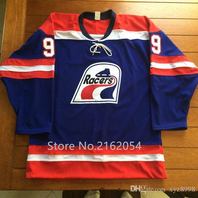 Wayne Gretzky 99 Indianapolis Racers Hockey Jersey White Blue