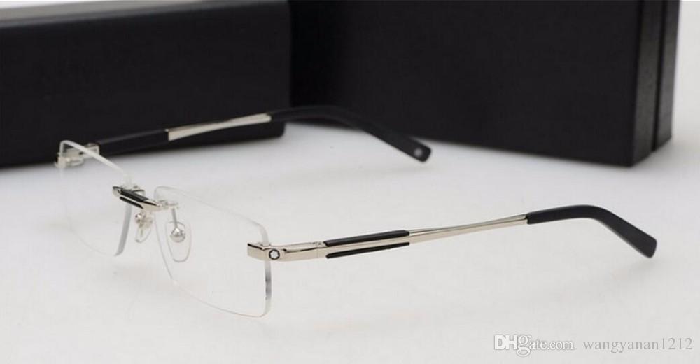 brand glass Optical frame Men Brand 2016 rimless eyeglasses frames MB349 designer points men fit reading glasses prescriptio