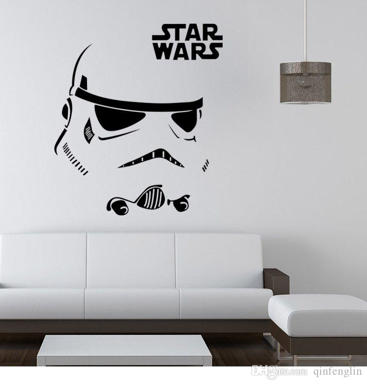 Qt012 2 Star Wars Wall Art Sticker Stormtrooper Darth Vader Vinyl Mural  Decal Removable Home Decor Clone Boyu0027S Room Decor Oversized Wall Decals Owl  Wall ...