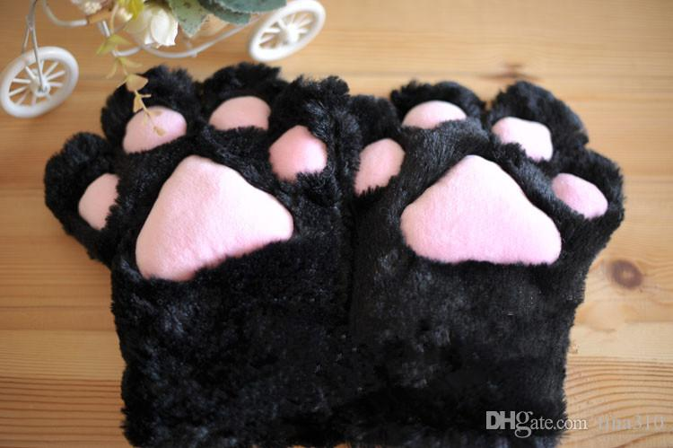 Al por mayor - Sexy The maid cat mother cat garra guantes Cosplay accesorios Anime Costume Plush Gloves Paw Party guantes Suministros 2167