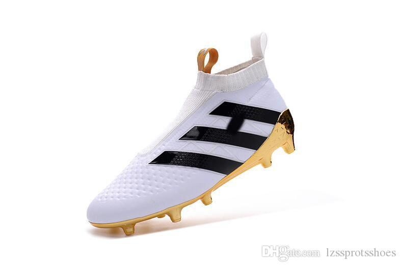 Kids Mens laceless FG tf ace 17 soccer cleats High Ankle Kids Boy football soccer shoes boots Flame storm