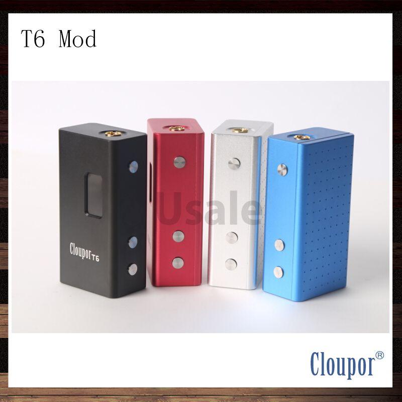Cloupor T6 100W Single 26650 Battery Box Mod 100% Original VV VW Electronic Cigarette APV Mods