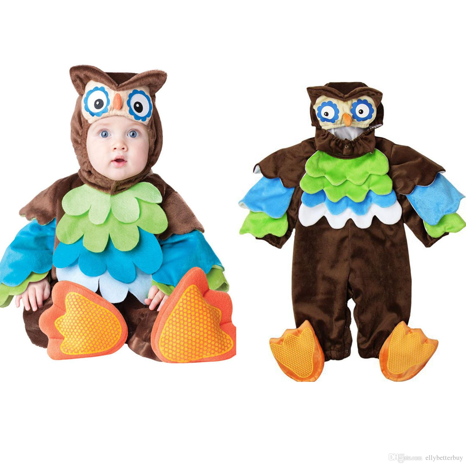 Lovely Animal Halloween Outfit For Baby Grow Infant Boys Girls Baby Fancy Dress Cosplay Costume Toddler Penguin/Lion/Floral Fairy/Owl Halloween Theme Party ...  sc 1 st  DHgate.com & Lovely Animal Halloween Outfit For Baby Grow Infant Boys Girls Baby ...