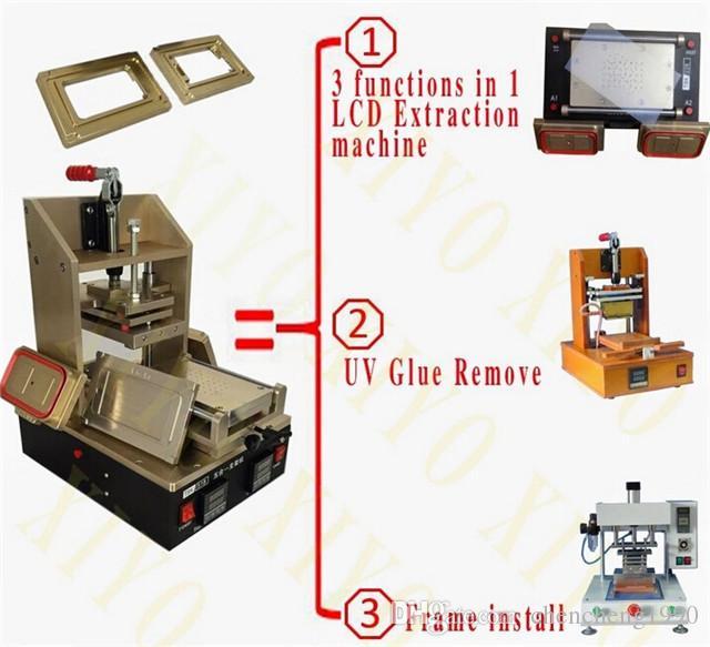 サムスン/ iPhoneベゼルミドルフレーム別機械+ LCDタッチスクリーンセパレーター+ LCD接着剤リムーバー機+ホットプレート