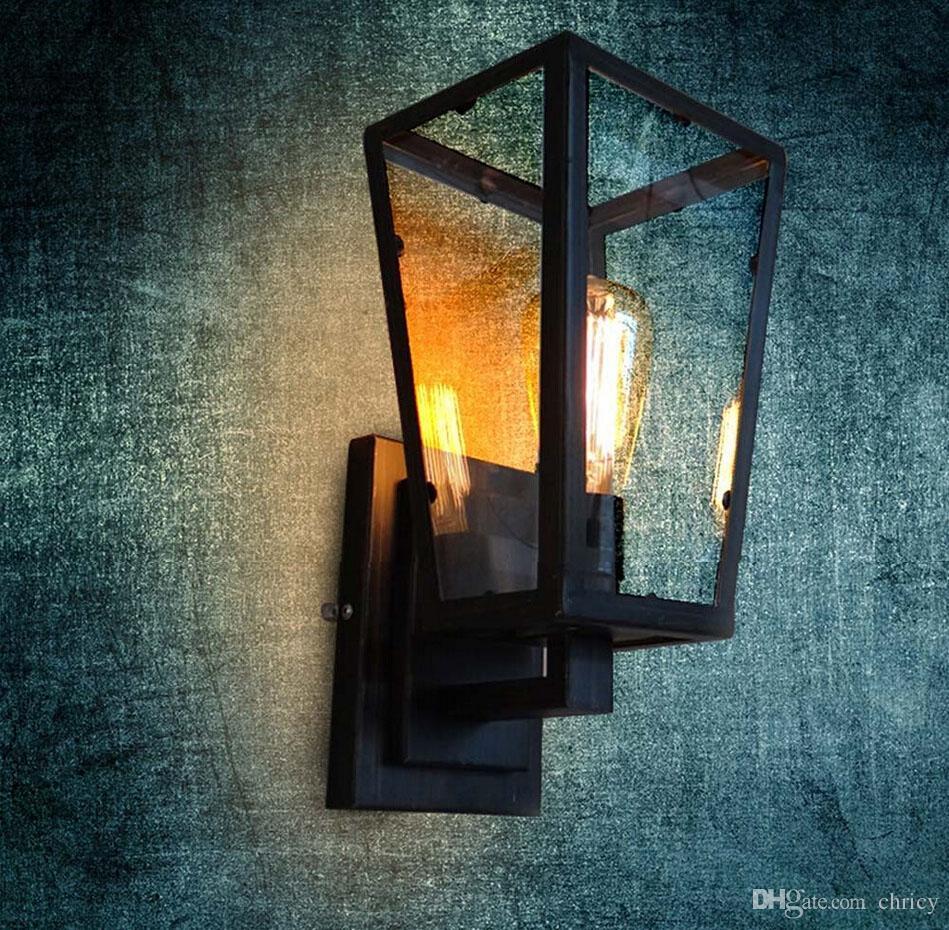 새로운 디자인 로프트 골동품 색상 노르딕 Industrical 빈티지 벽 빛 철 커피 저장소 식당 / 정원 조명 장식 E27