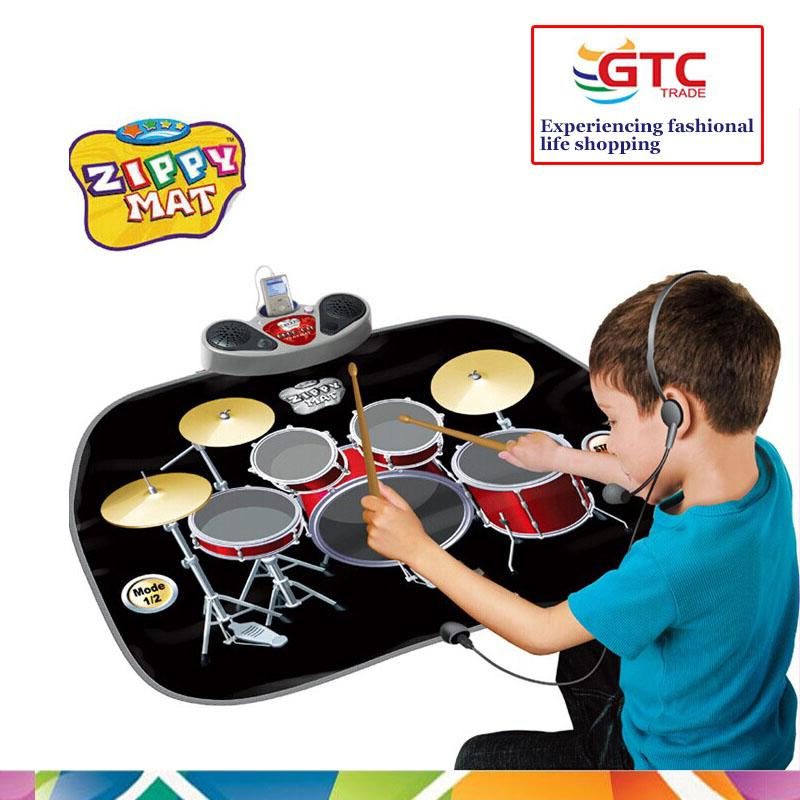 2019 Kids Drum Kit Desktop Roll Up Electronic Drum Pad Portable With