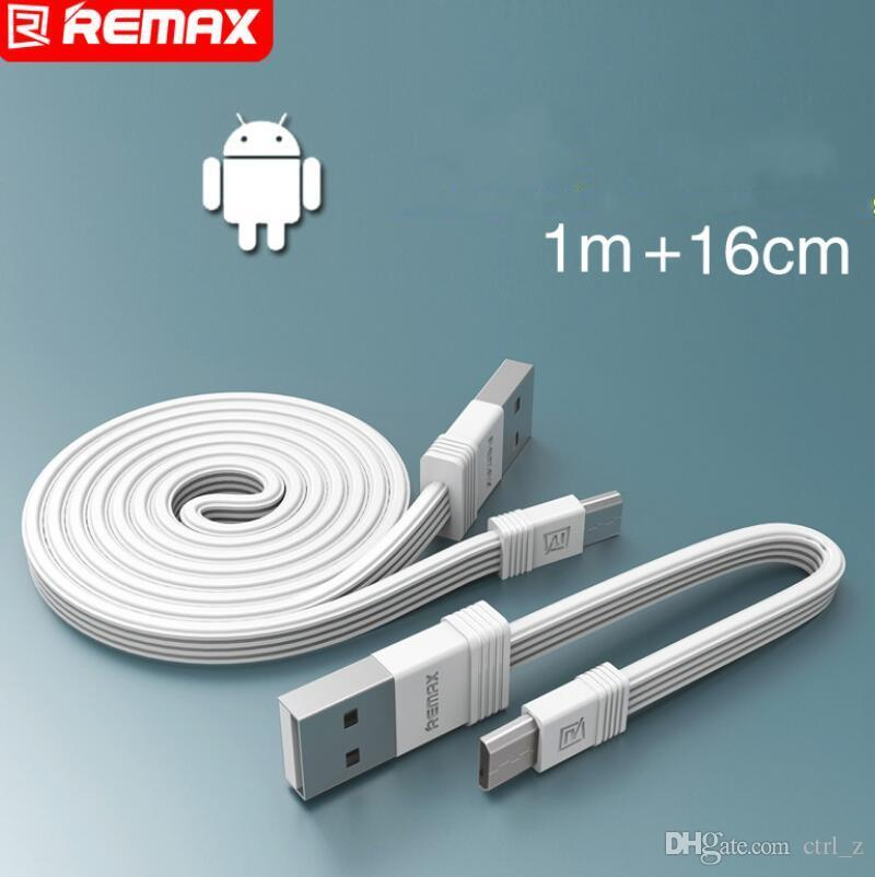 REMAX Tengy 2 Micro Usb Data Cables 1m & 16cm 2 in 1 Fast Charging Cable Portable Usb Sync Charger Cable for Huaweii samsung
