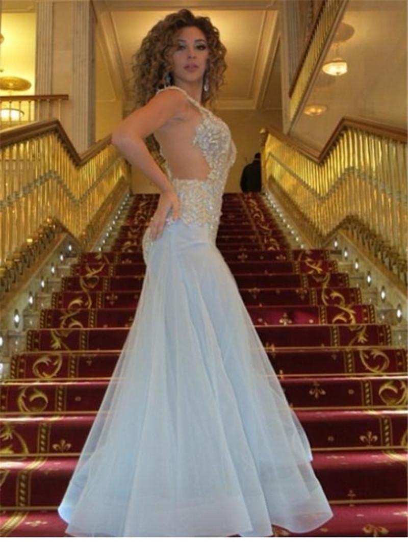 Peplum Aso Ebi Nigerian Lace Styles Prom Dress Mermaid Evening Gowns Short Sleeve Nigeria Party Dress V-Neck Prom Dress Asoebibella