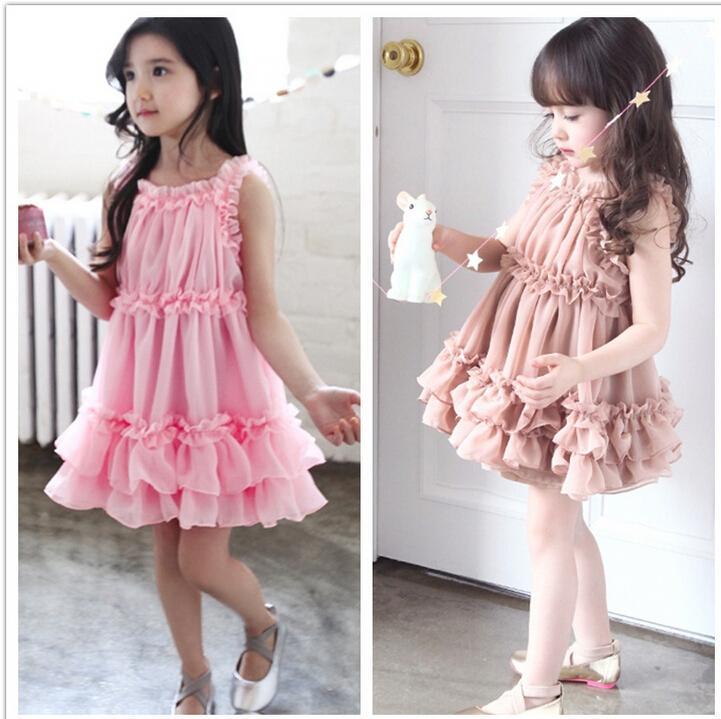 78ee68172fbe 2019 Summer Fashion Designer Kids Girl Dress Brand Children Princess Dresses