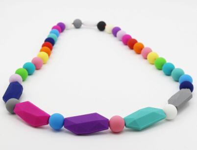 NUOVO ARRIVO COLORI Handmade della miscela della collana del silicone Bambino di dentizione
