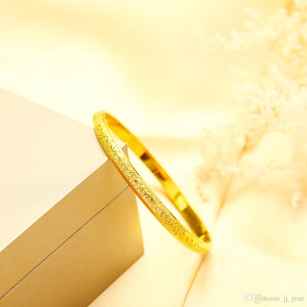 24K Yellow Gold Filled Bangles New Style Brass Cuban Luxury Fine Jewelry Adjustable Hot Sale Time Limited Real Bracelets