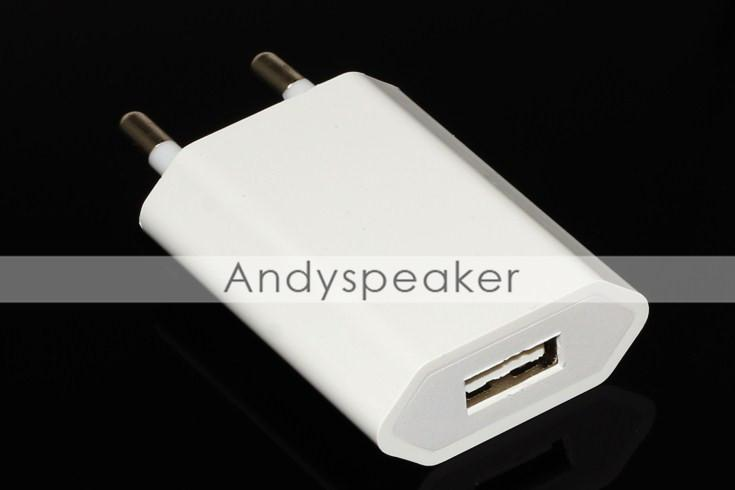 Chargeur mural US Real Plug 5V / 1A universel de haute qualité pour téléphones portables iPhone /