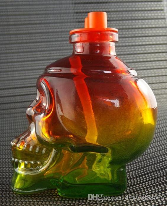 2018 Fab Egg Glass Bong Schädel Glass Bong Wasserpfeife Kleine Glas Shisha Schüssel Ölplattformen