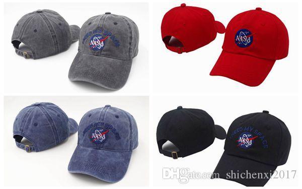 NASA I NEED MY SPACE Baseball Cap Breathable Casual Men Women ... 34d7b4a6c7ae