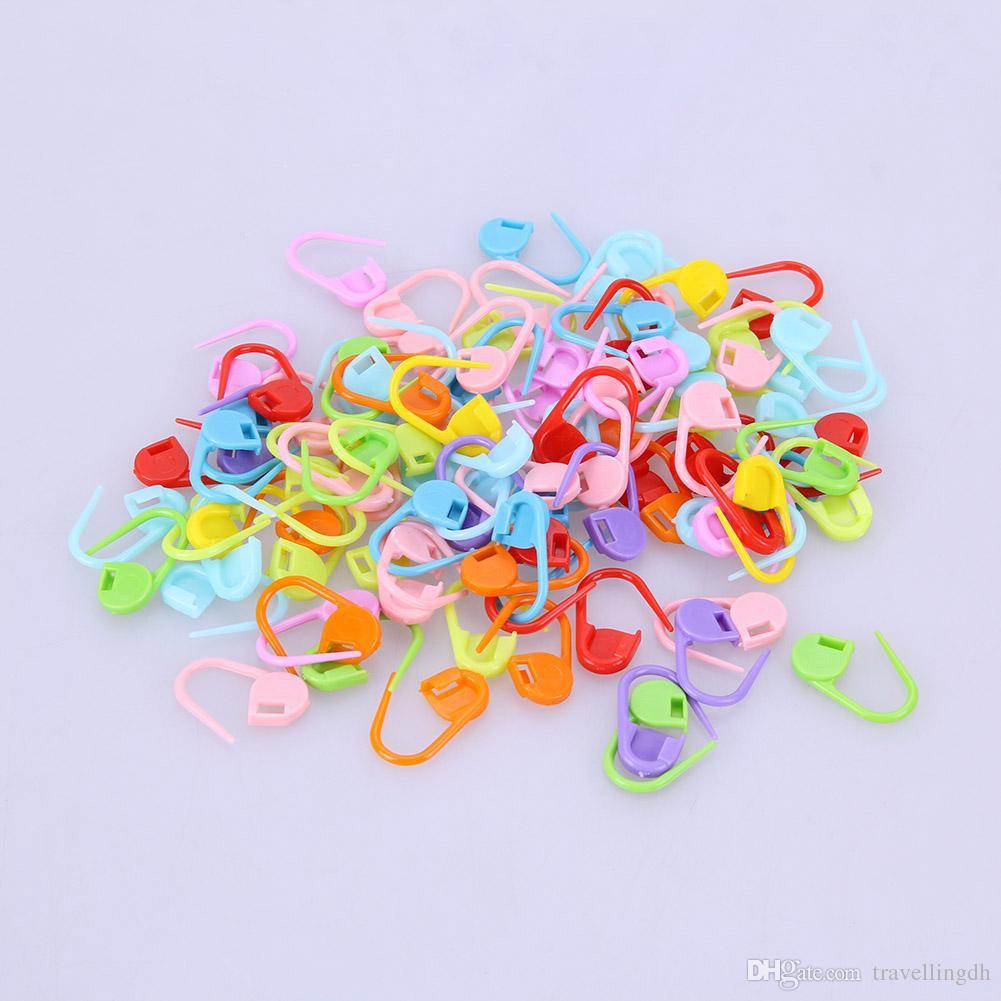 1000 unids / set Plástico Colorido Aguja Clip Gancho Ganchillo Crochet Stitch Markers Crochet Latch Herramientas de Punto
