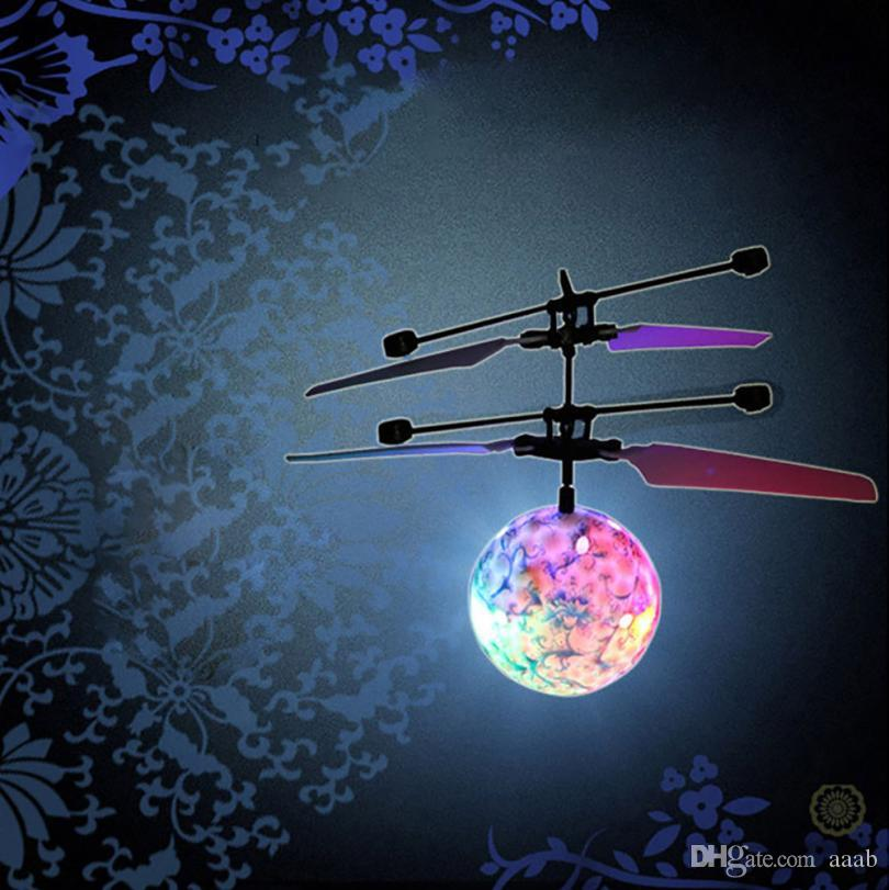 RC Toy EpochAir RC Flying Ball Helicopter Ball Built-in Shinning LED Lighting for Kids Teenagers Colorful Flyings Feb10