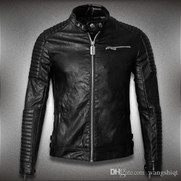 2018 2015 Hot Sale Mens Leather Jackets And Coats Jaqueta De Couro ...